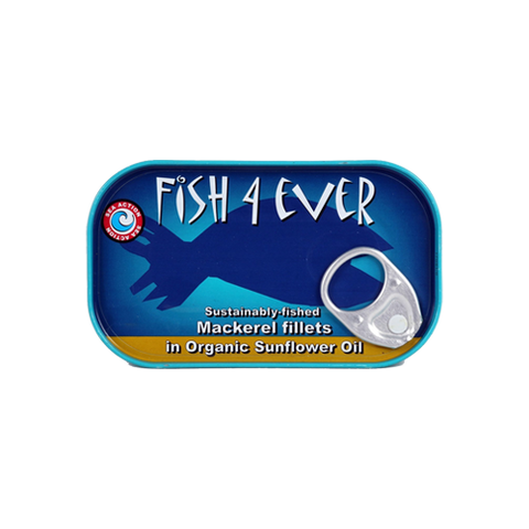 Fish4ever Mackerel in organic sunflower oil (120g) - Cabinet Organic