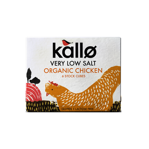 Very Low Salt Organic Chicken Stock Cube (6x11g) - Kallo