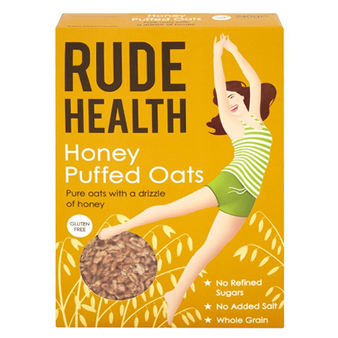 Honey Puffed Oats (240g) - Rude Health