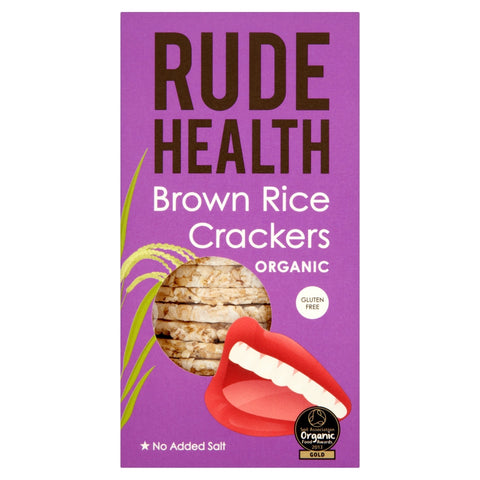 Rude Health Organic GF Brown Rice Crackers (130g) - Cabinet Organic