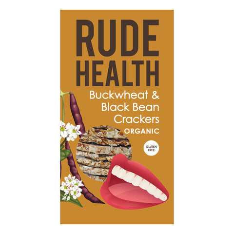 Rude Health Buckwheat & Black Bean Crackers (120g) - Cabinet Organic
