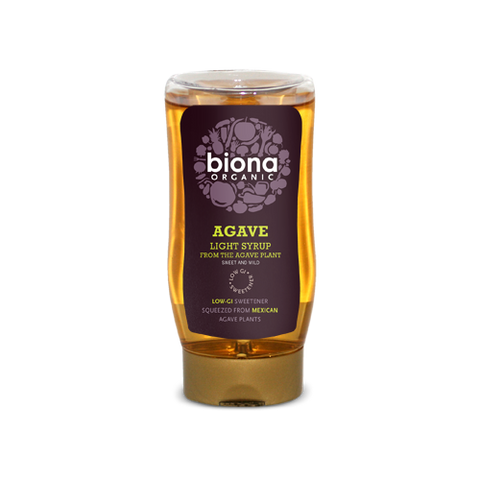 Biona Agave Syrup Light - squeezy - Cabinet Organic