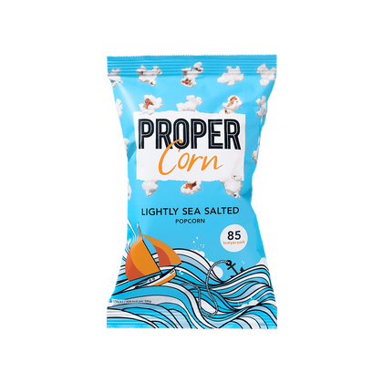 Proper Lightly Sea Salted Popcorn Single Serve - Cabinet Organic