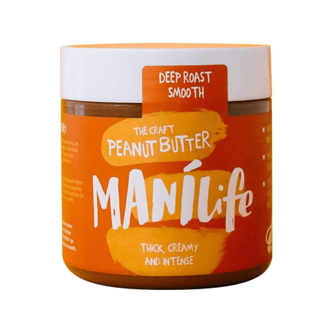 Manilife Deep Roast Smooth Peanut Butter (295g) - Cabinet Organic