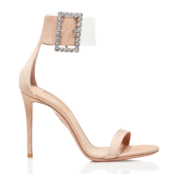 Casablanca Strass 105 suede PVC sandals