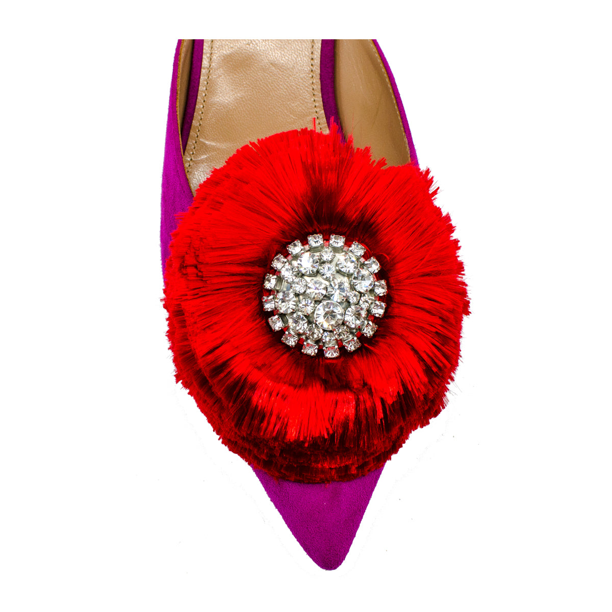 Lotus 45 crystal-embellished mules