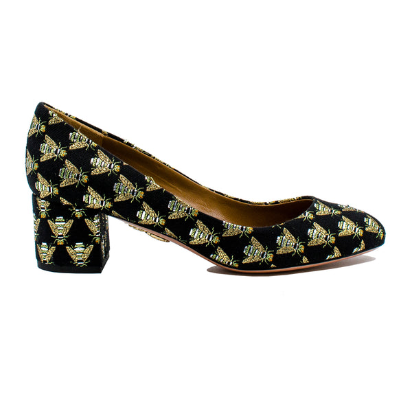 Notto Bee embroidered pumps