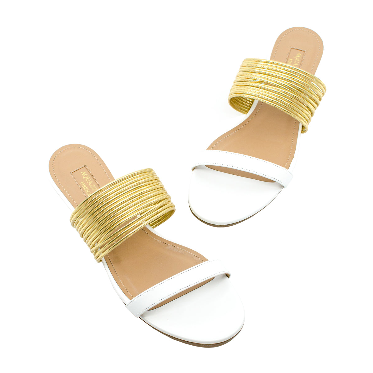 Rendez Vous metallic leather slides