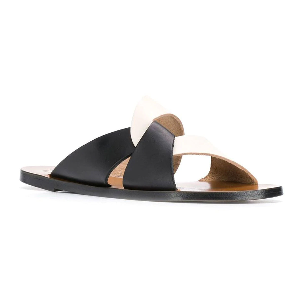 Allai cross over leather slides