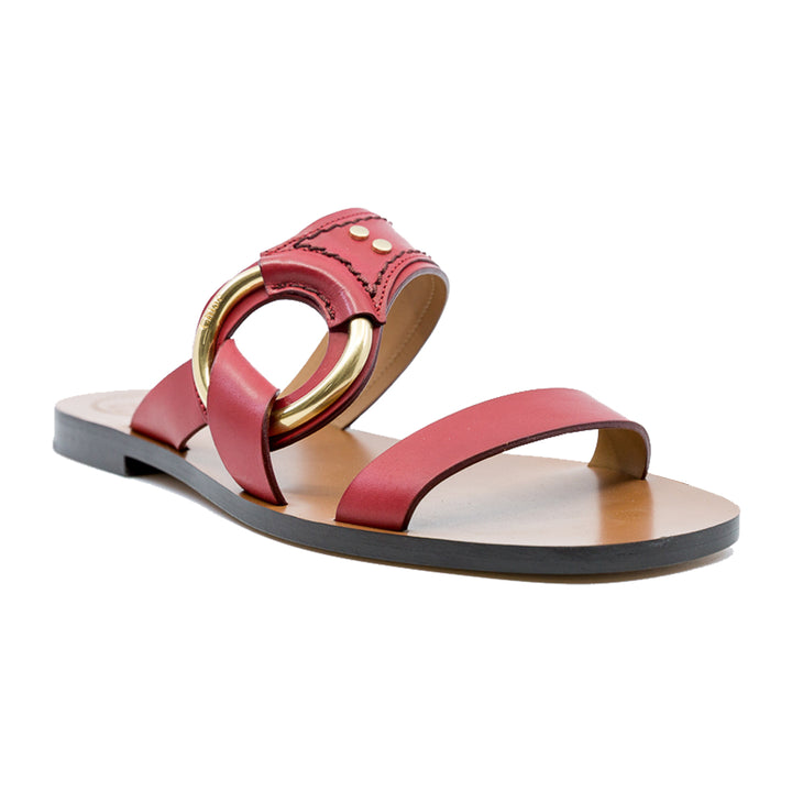 Demi Flat Leather Slides