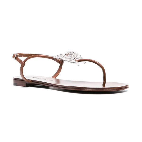 Farifu Cyrstal Detail Thong Sandals