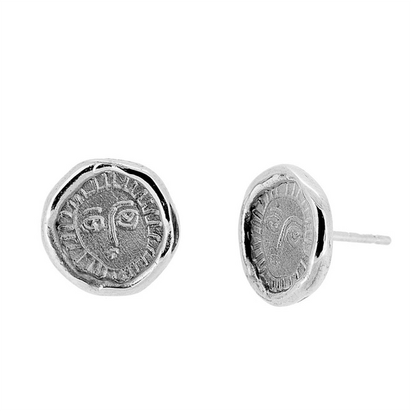 Picasso Silver Stud Earrings