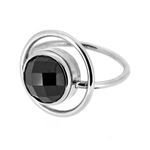 Unconditional silver spinel ring