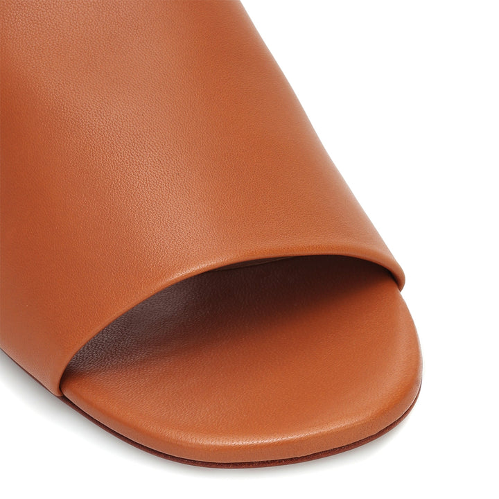 Itou Flat Leather Slides