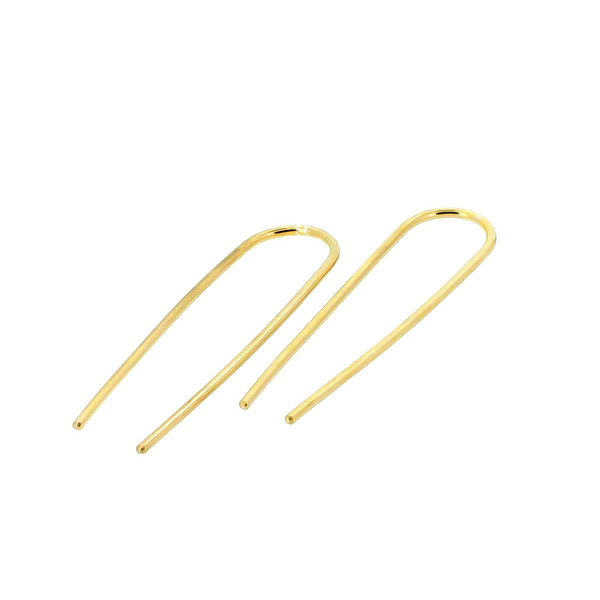 9ct Yellow Gold Magnetic Field Hooks Large