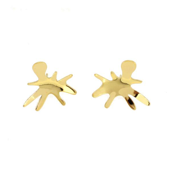 Matisse Flora gold stud earrings