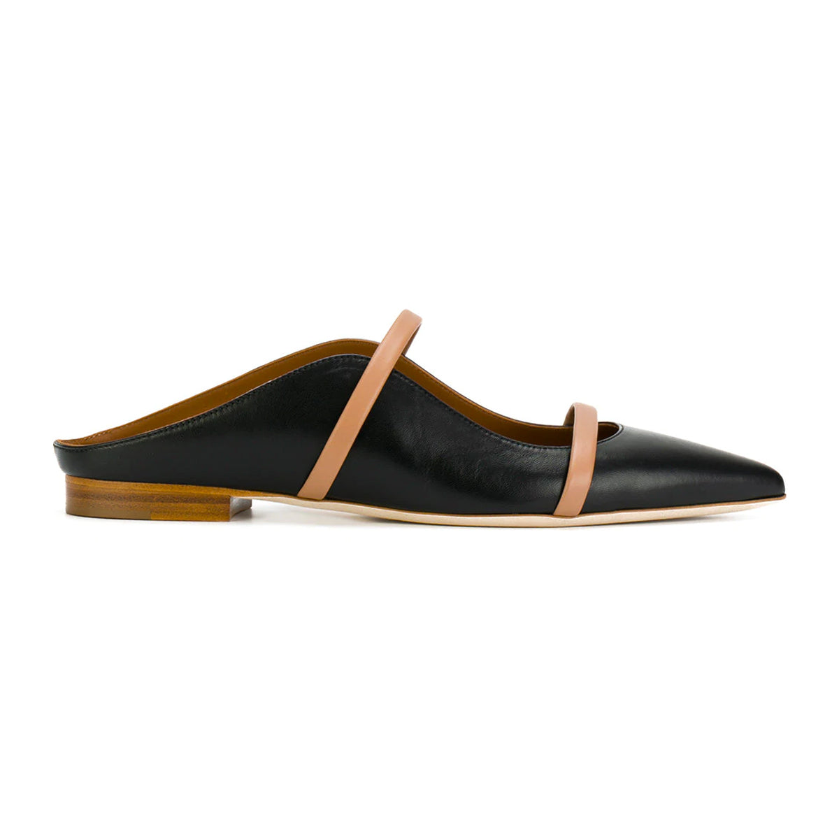 Maureen leather point-toe flats