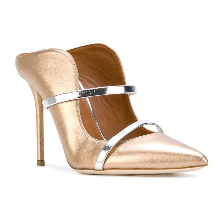 Maureen 100 metallic leather mules