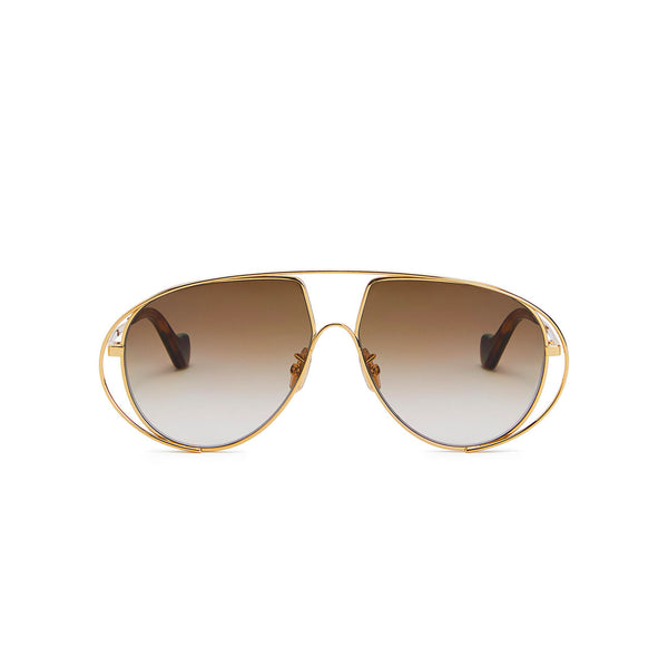 Metal Oval Pilot Sunglasses