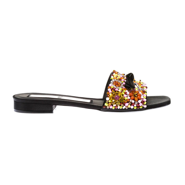 rosa multi beaded flat slides