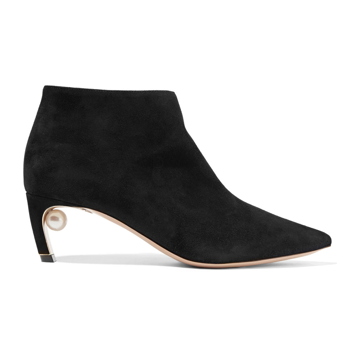 Mira suede pearl boots