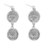 Silver 925 Picasso Drouble Drop Earrings