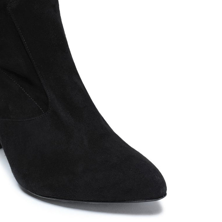 Quilam suede thigh boots
