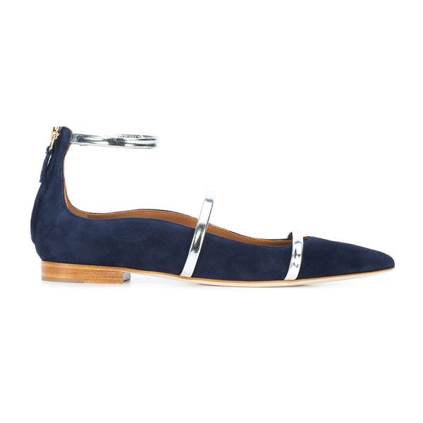 Robyn leather trimmed point-toe flats