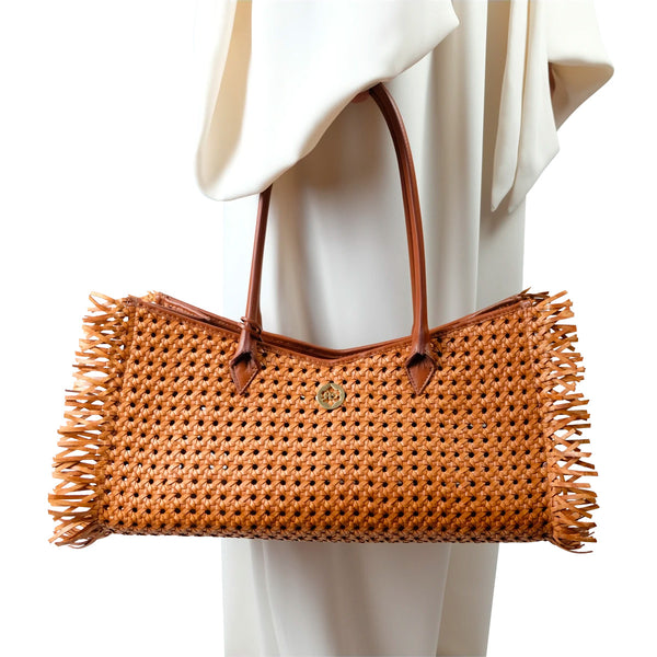 Rita Woven Shoulder Bag