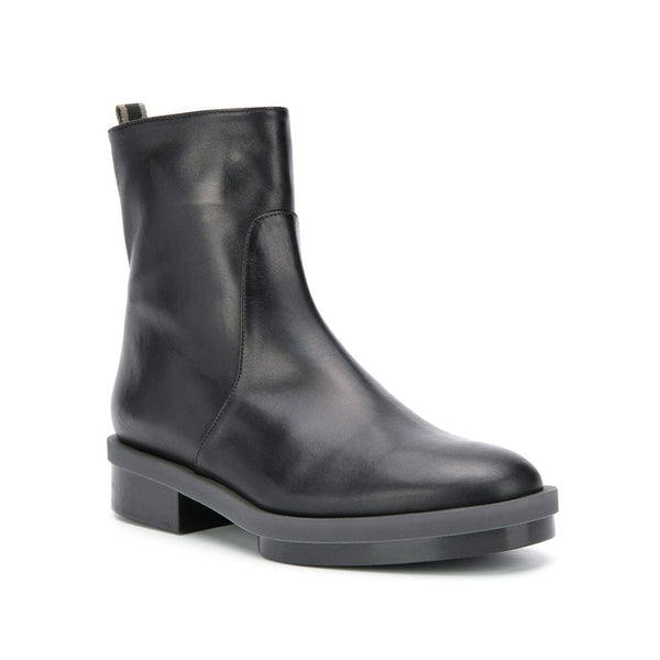 Roll Gel Sole Zip Up Ankle Boots