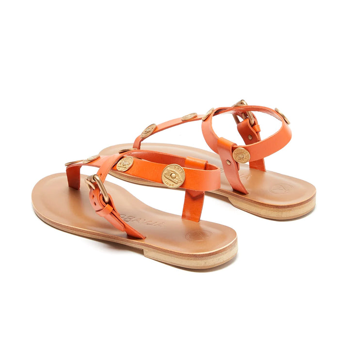 Andreina Coin Detail Flat Sandals