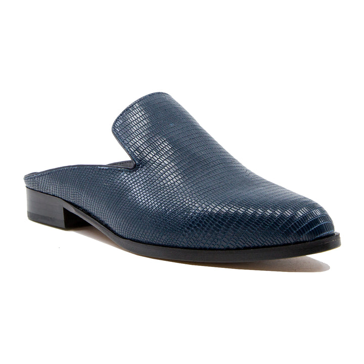 Alice lizard effect leather mules