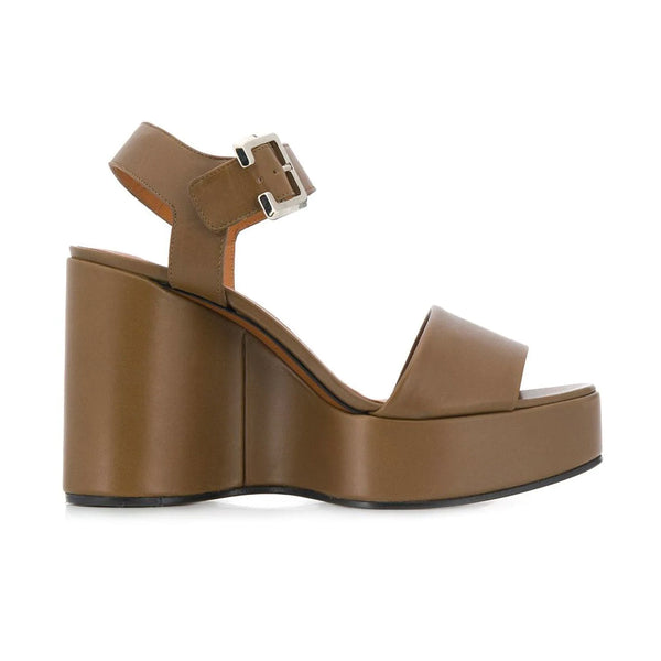 Altesse sculptural leather wedges