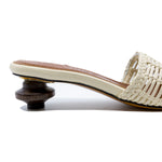 Ampuria Woven Slides with 40mm Wood Heel