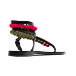 Androna Pom-Pom Leather Sandals