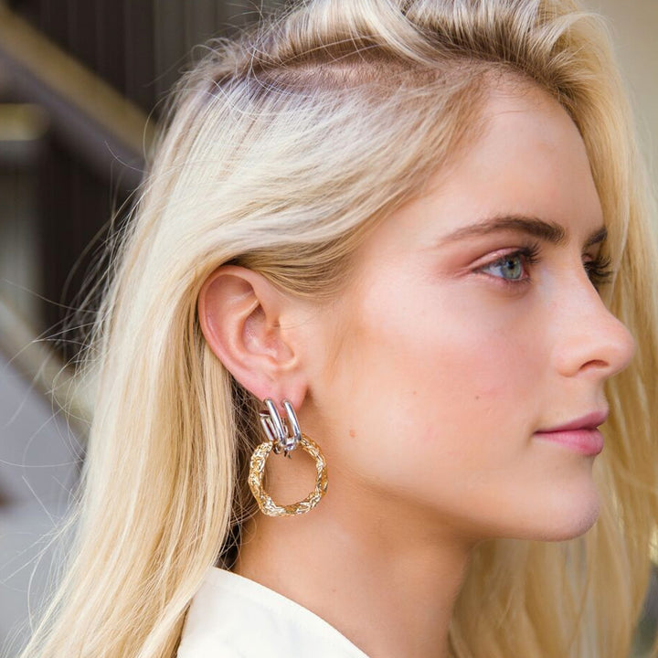 Anouck Two Tone Hoop Earrings