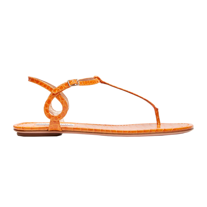 Almost Bare Flat Leather Sandals