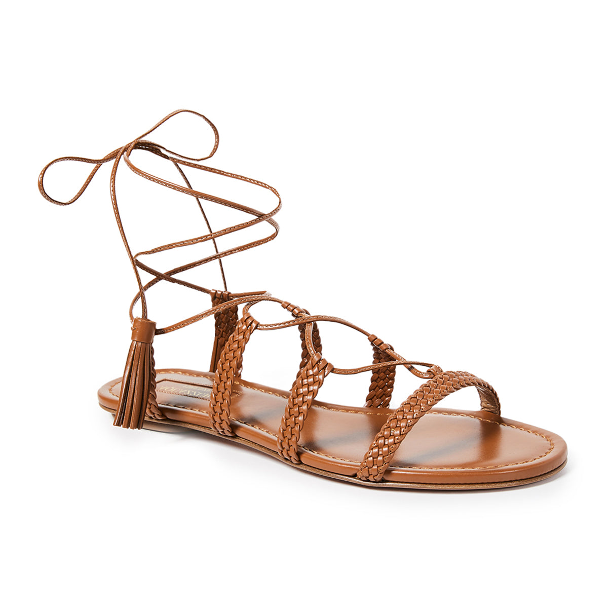 Stromboli Plaited Flat Tie Up Sandals