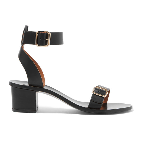 Carmen leather block heel sandals