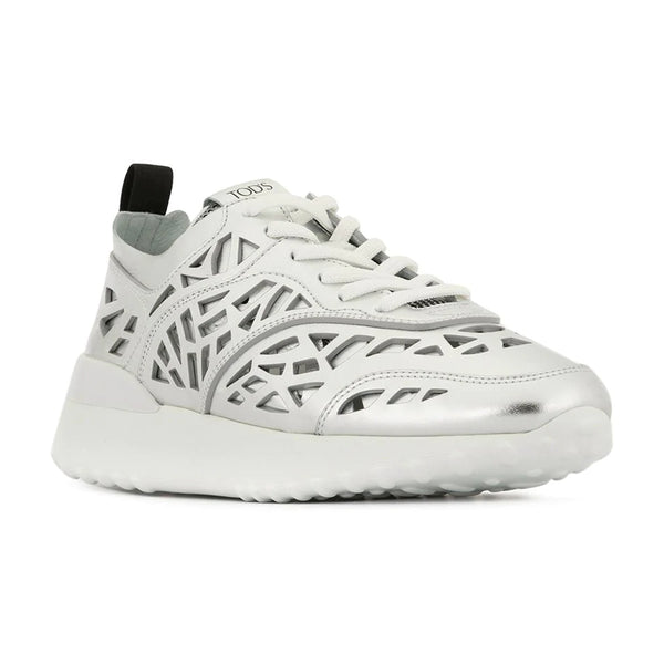 Sportivo Lasercut Metallic Leather Sneakers
