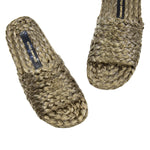 Braided Raffia Slides