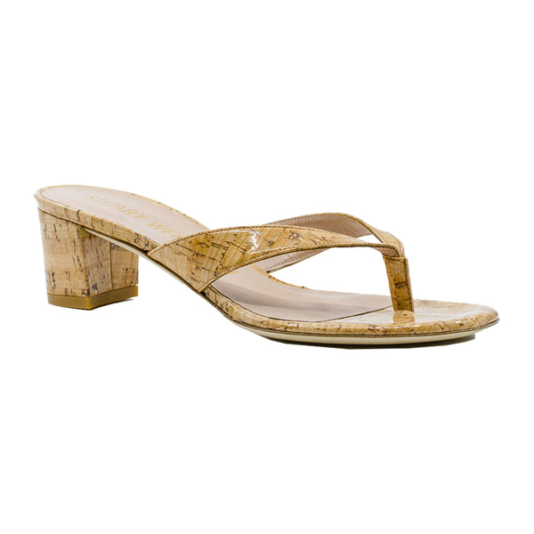 Brigida 50 Block Heel Cork Thongs