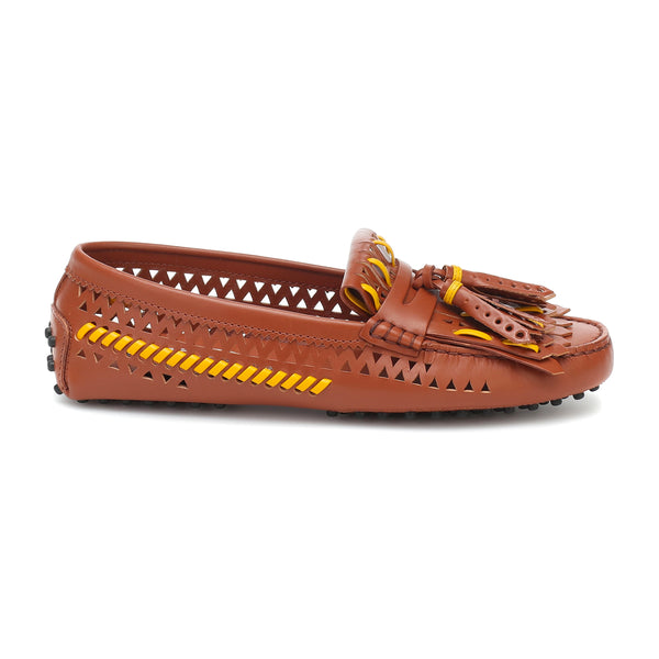 Woven Gommini Leather Loafers