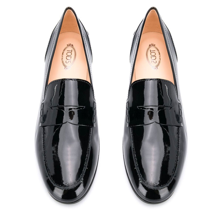 Patent High Vamp Rubber Sole Loafers