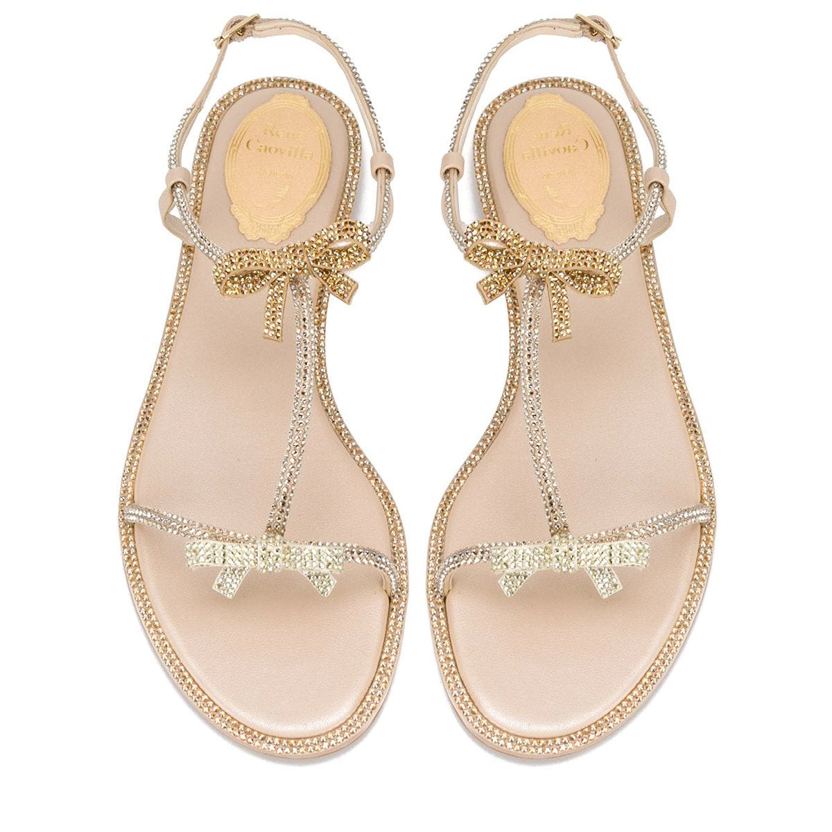 Caterina Double Bow Flat Sandals