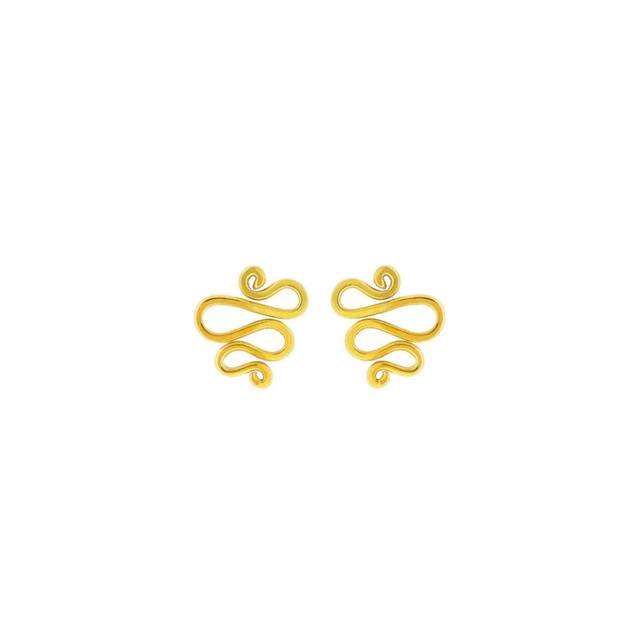 Snake Charmer 9ct gold earrings