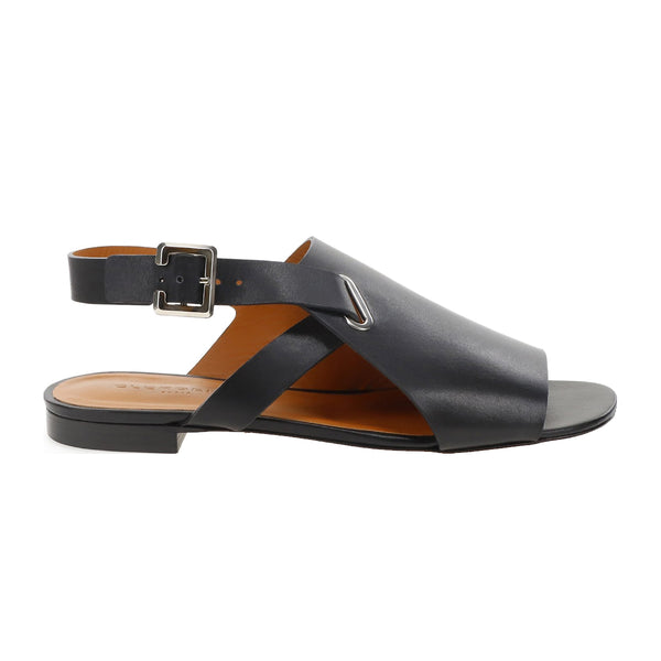 Ada Calf Leather Flat Buckle Sandals