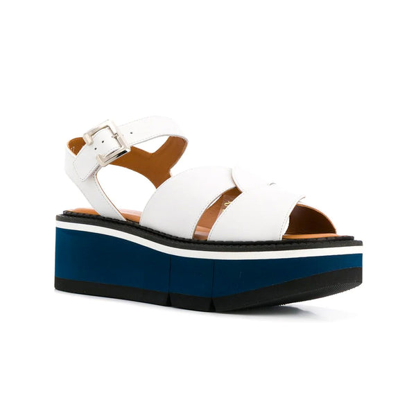 Adelaide micro block leather flatform sandals