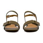 Azalee calf leather flat sandals