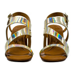 Above Lasercut Block Heel Sandals